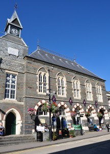Guildhall in Cardigan, West Wales